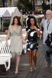 Julia Volkova & Elena Katina of t.A.T.u. posing to promote new film You And I during the Cannes Film Festival