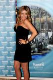 Carmen Electra shows cleavage in low-cut tight black dress at the Pool in Harrah's Resort in Atlantic City